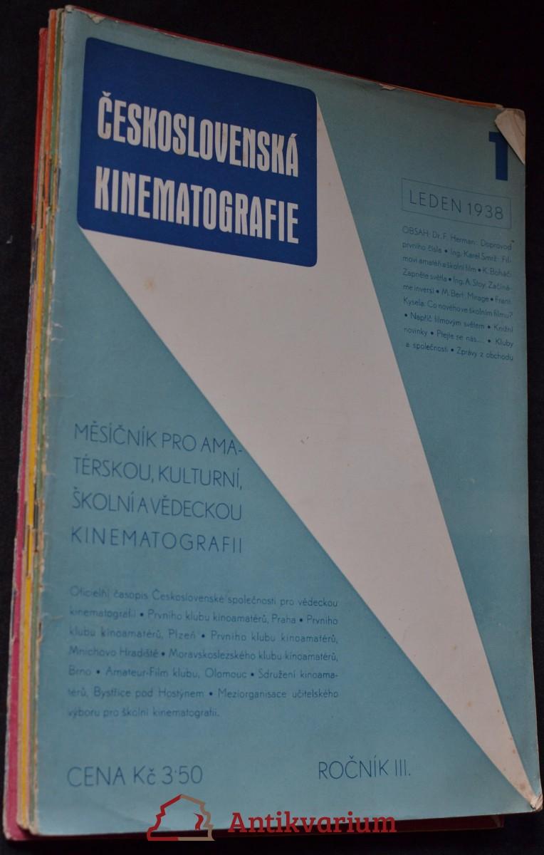 antikvární kniha Československá kinematografie : 1 - 12, 1938