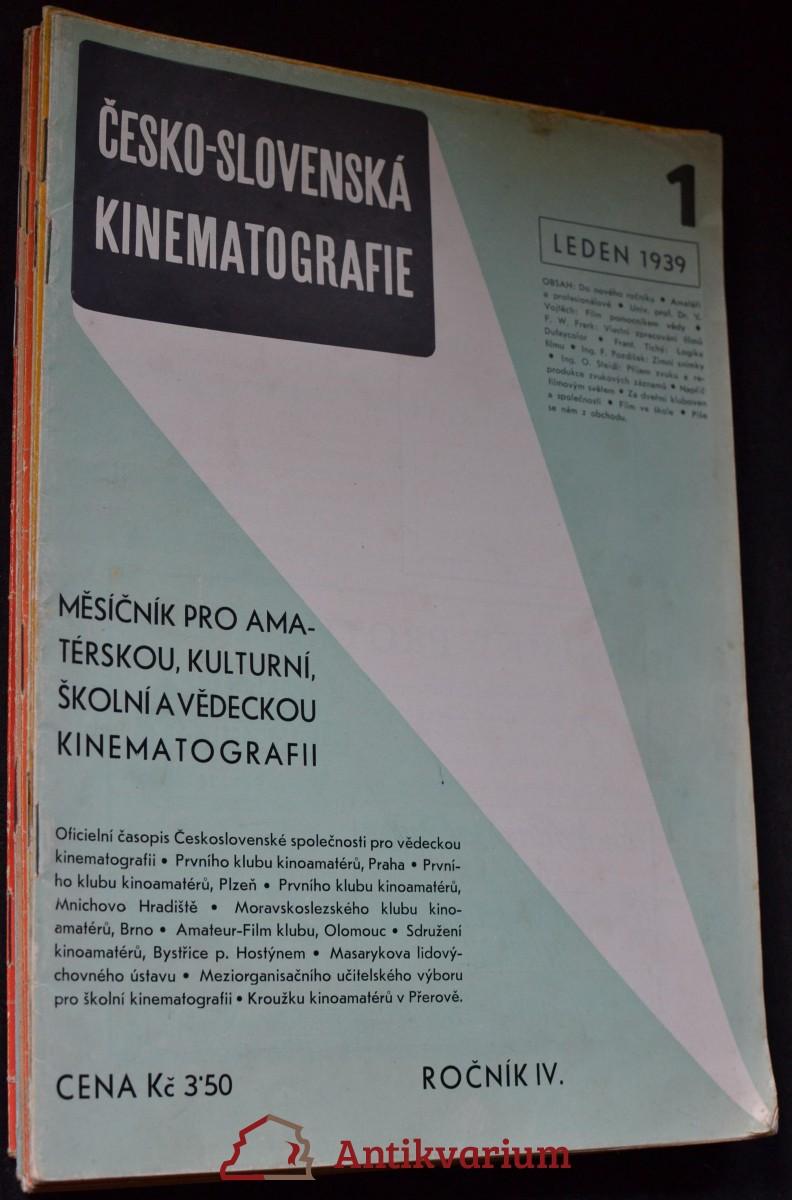 antikvární kniha Česko-slovenská kinematografie : 1 - 12, 1939