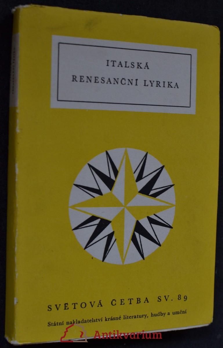 Italská renesanční lyrika