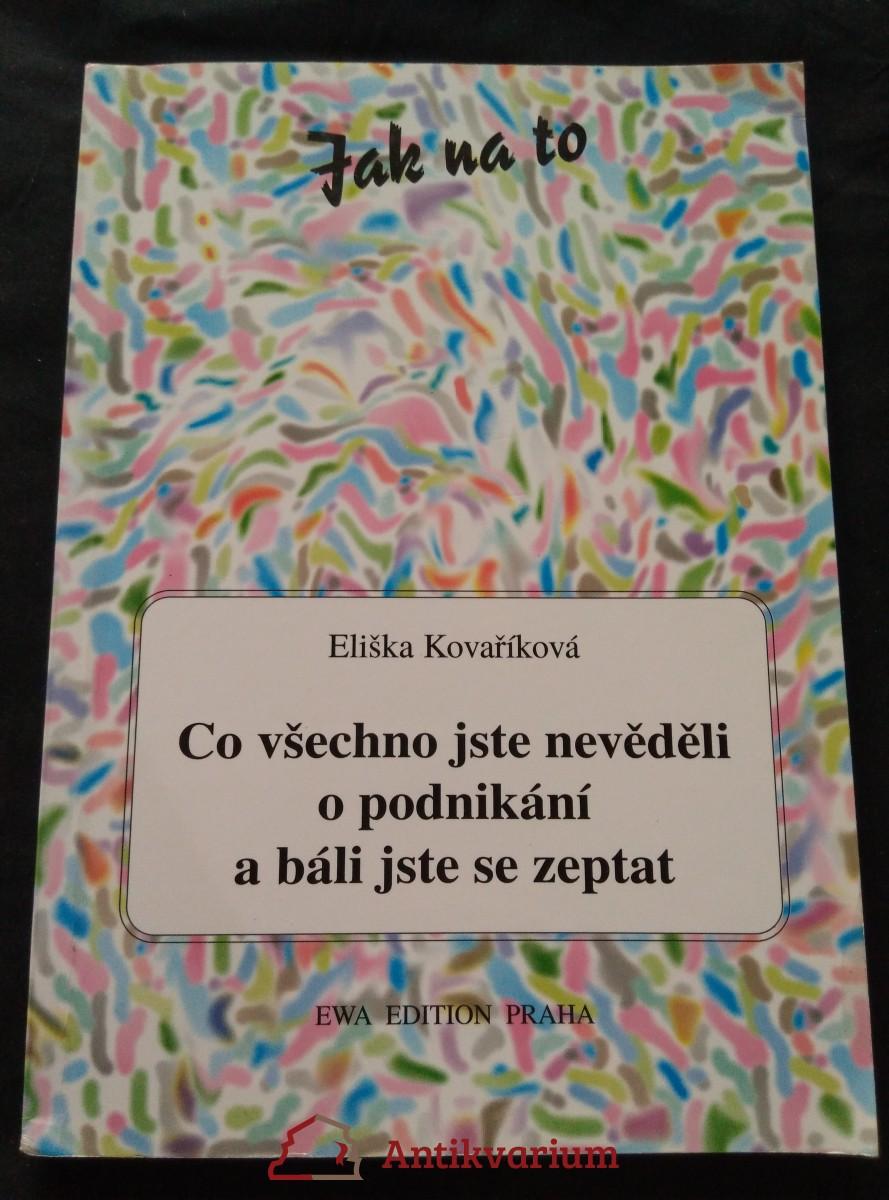 antikvární kniha Co všechno jste nevěděli o podnikání a báli jste se zeptat, 1995