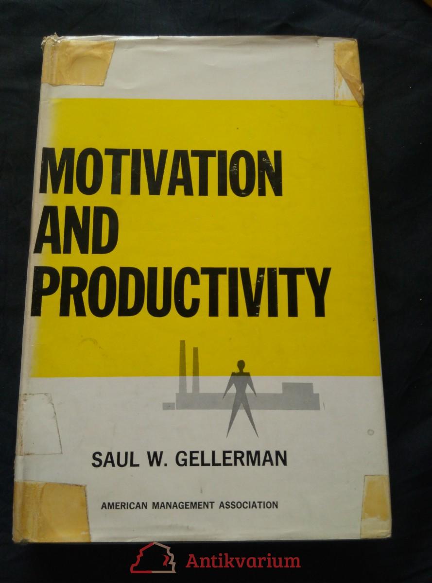 antikvární kniha Motivation and Productivity (A4, 394 s.), 1963