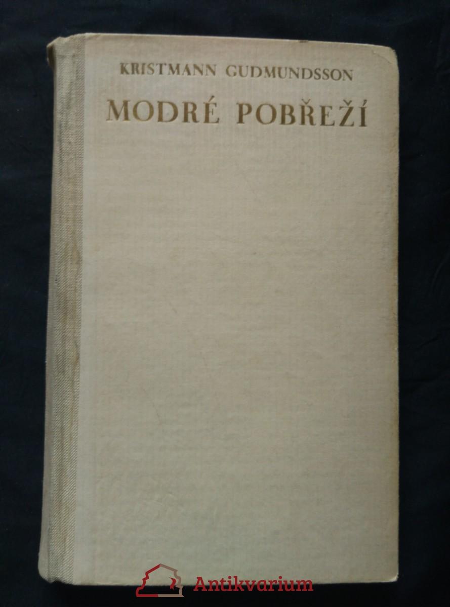 antikvární kniha Modré pobřeží (dřevoryt a typo C. Bouda), 1947