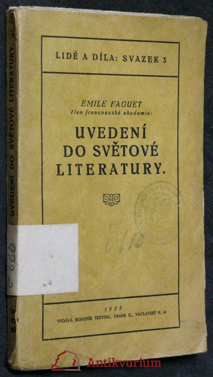 Uvedení do světové literatury
