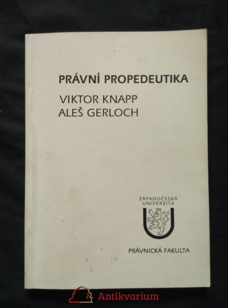 Právní propedeutika (Obr, 138 s.)