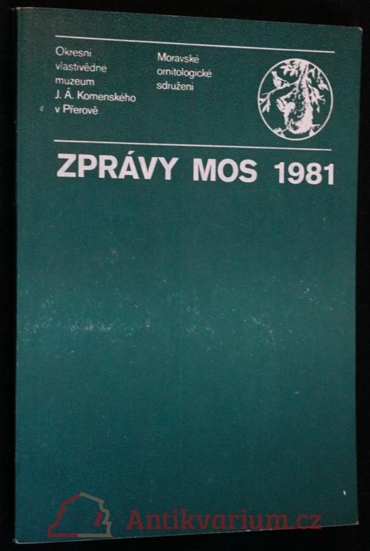antikvární kniha Zprávy MOS 1981, 1982