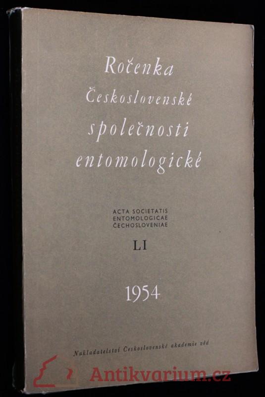 antikvární kniha Ročenka Československé společnosti entomologické 1954, ročník LI, 1954