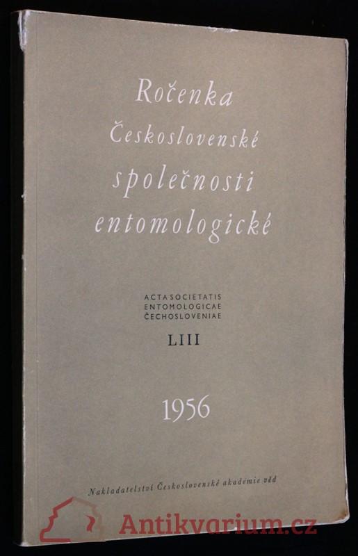 antikvární kniha Ročenka Československé společnosti entomologické 1956, ročník LIII, 1956