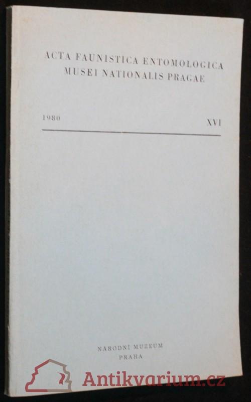 antikvární kniha Acta Faunistica Entomologica Musei Nationalis Pragae XVI, 1980