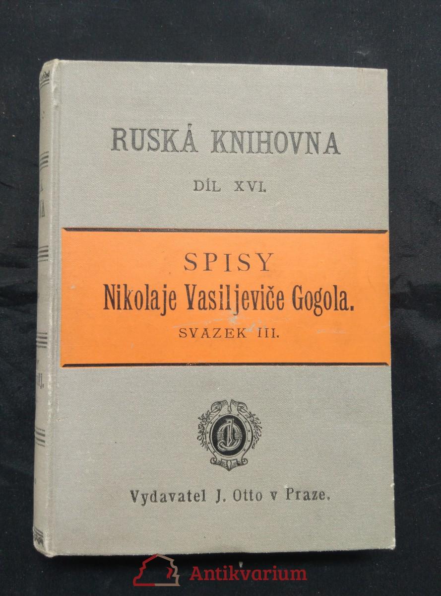 Mirgorod/ Novelly a Arabesky - Spisy - XVI.díl, sv. III (pv., 442 s.)