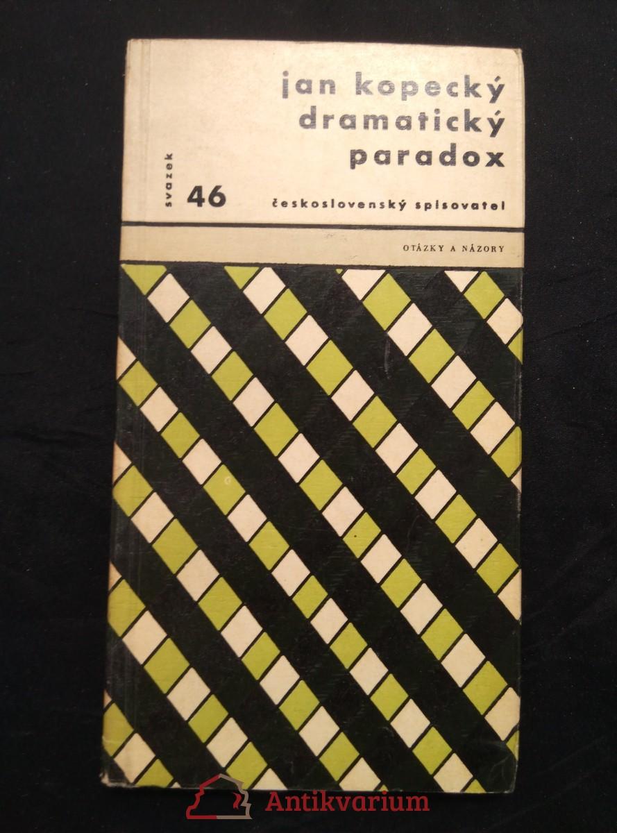 Dramatický paradox (Obr, 136 s., 8 s fotopříl., ob a  typo Z. Seydl)
