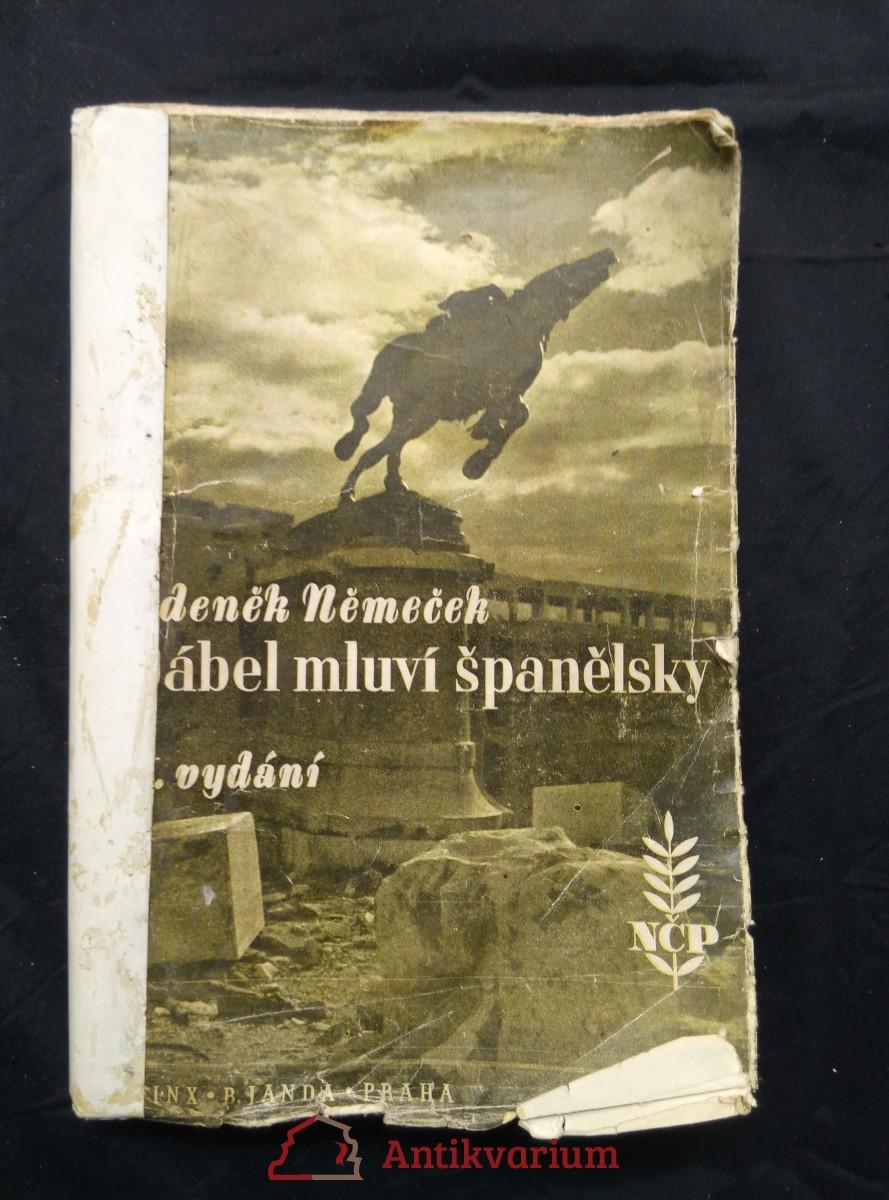 antikvární kniha Ďábel mluví španělsky (ob. J. Štyrský), 1940