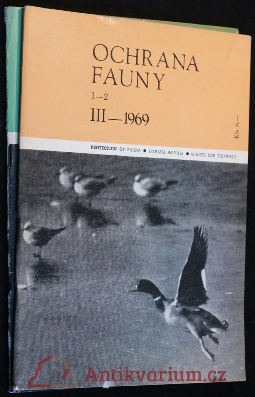 antikvární kniha Ochrana fauny 1969 2sv 1-2 a 3-4, neuveden