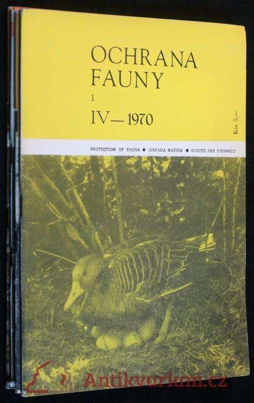 antikvární kniha Ochrana fauny 1970 4sv 1, 2, 3 a 4, neuveden