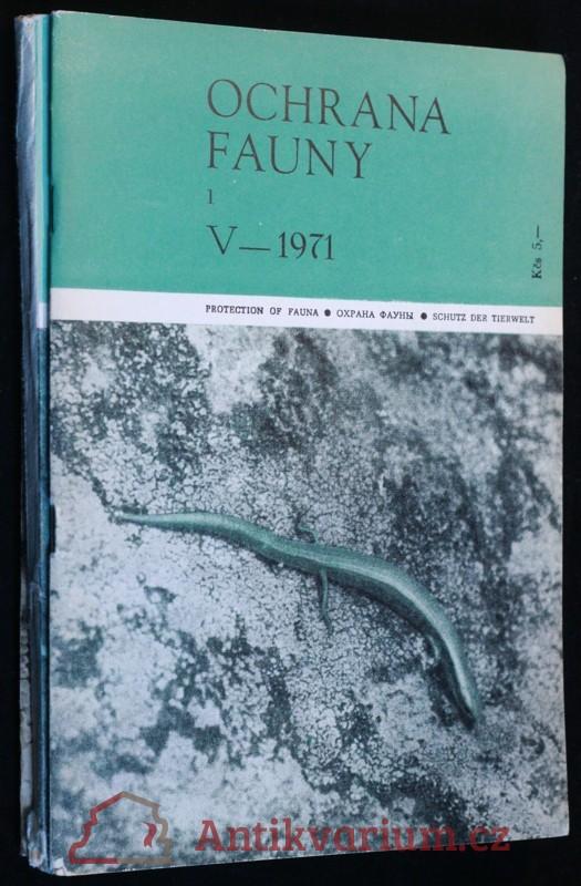 antikvární kniha Ochrana fauny 1971 3sv 1, 2-3 a 4, neuveden
