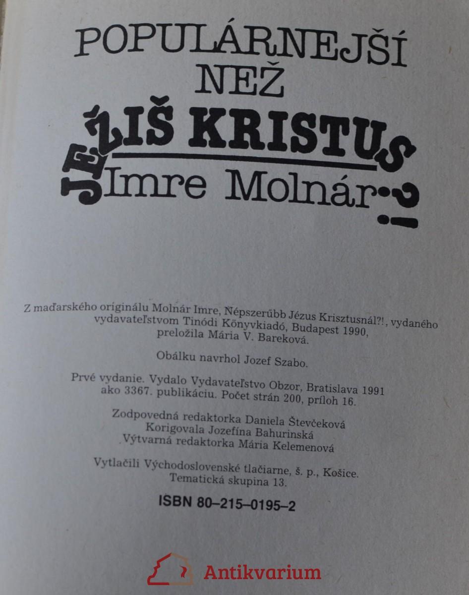 Popularnejsi Nez Jezis Kristus Zivotopis Antikvariat Praha