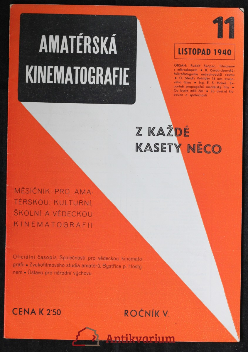 antikvární kniha Amatérská kinematografie - Z každé kasety něco, 1940