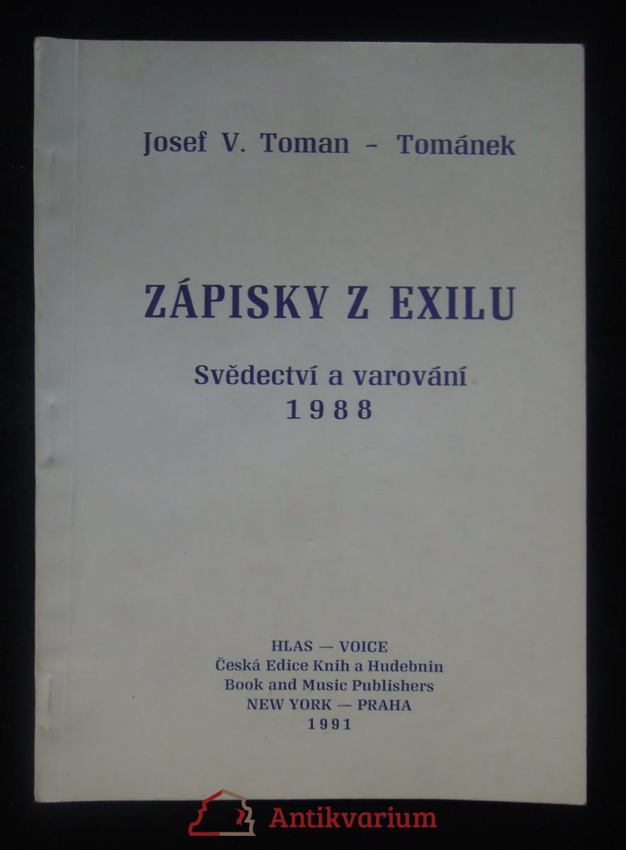 antikvární kniha Zápisky z exilu, 1991
