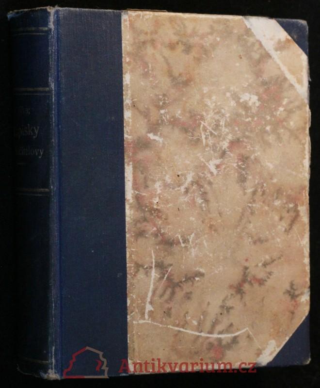 antikvární kniha Zápisky podučitelovy, neuveden