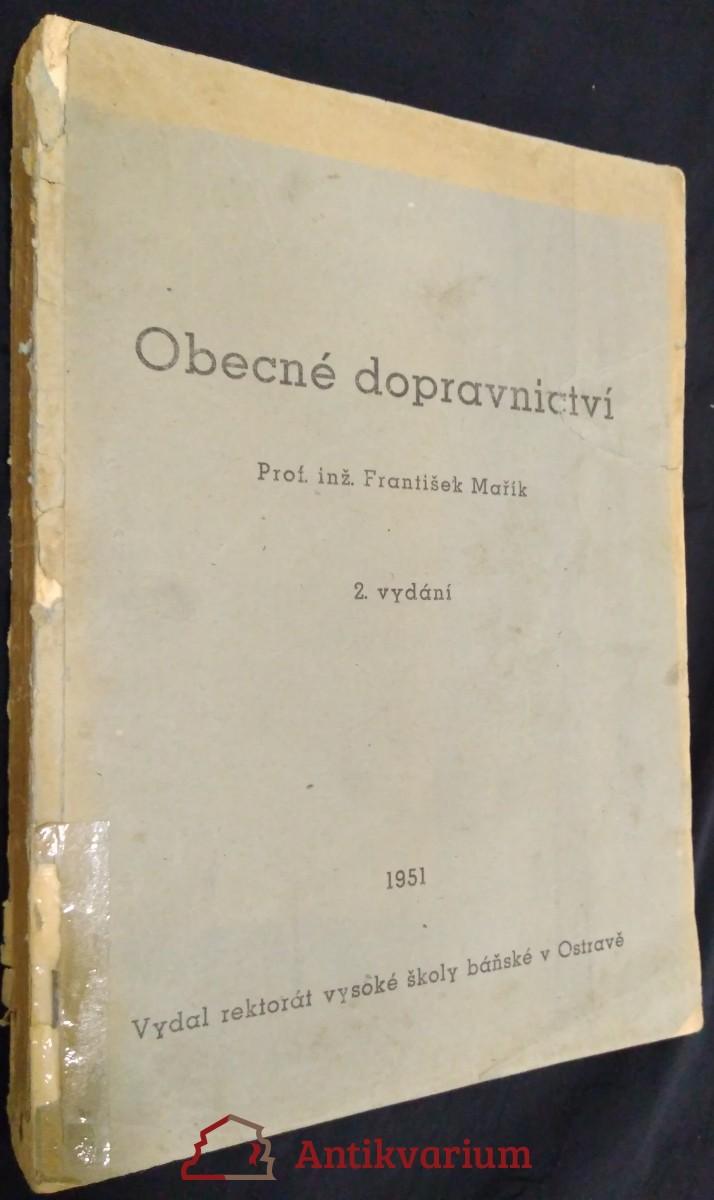 antikvární kniha Obecné dopravnictví, 1951