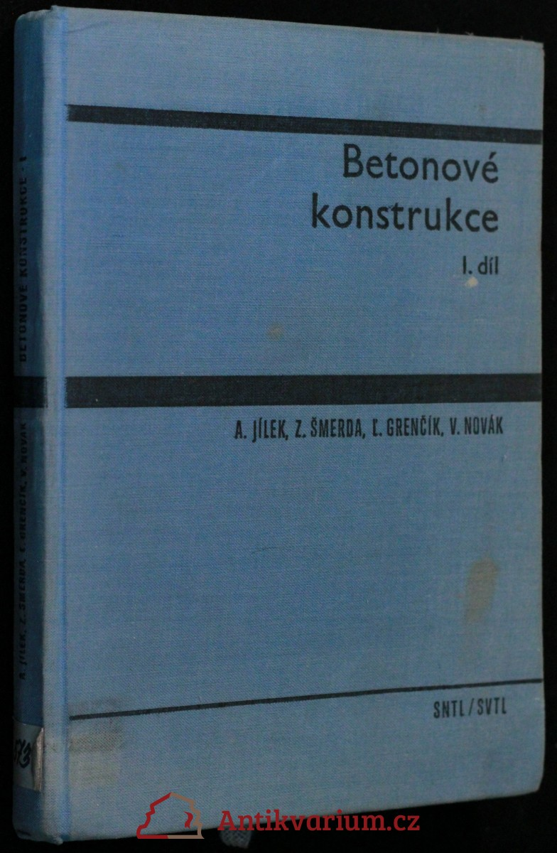 antikvární kniha Betonové konstrukce I. díl, 1965