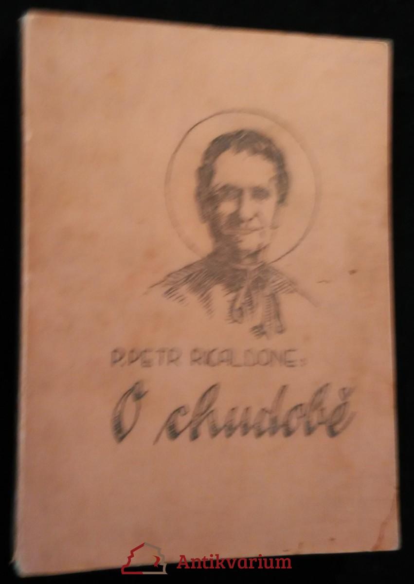 antikvární kniha O chudobě, 1938