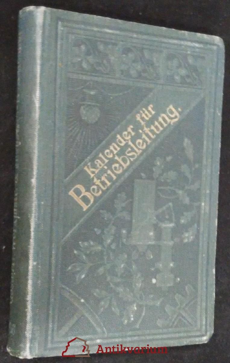 antikvární kniha Kalender für Betriebsleitung, 1906