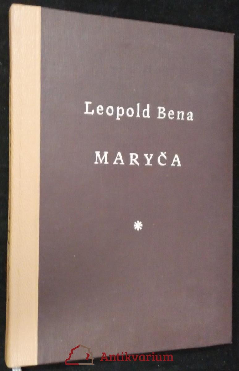 antikvární kniha Maryča : román, 1928