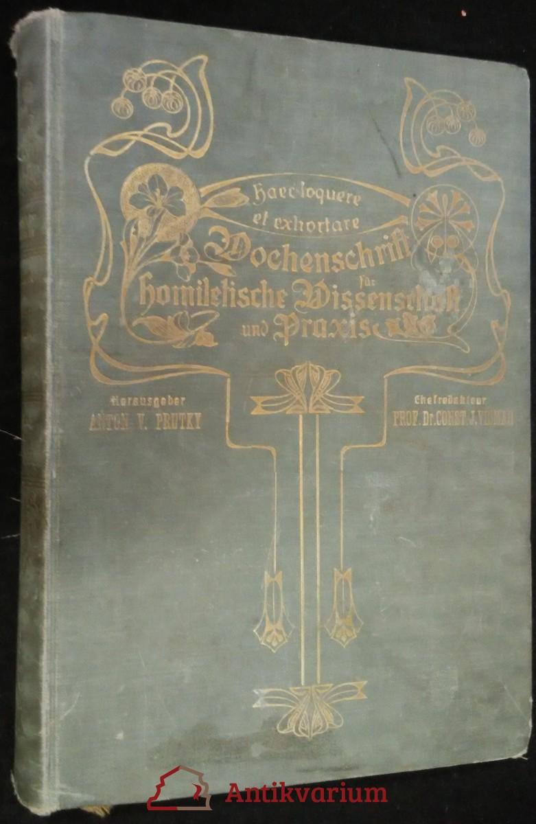 antikvární kniha Wochenschrift für homiletische Wissenschaft und Praxis, 1906-1907