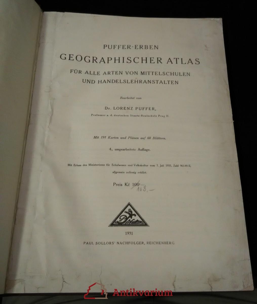 antikvární kniha Geographischer Atlas für alle Arten von Mittelschulen und Handelslehranstalten, 1931