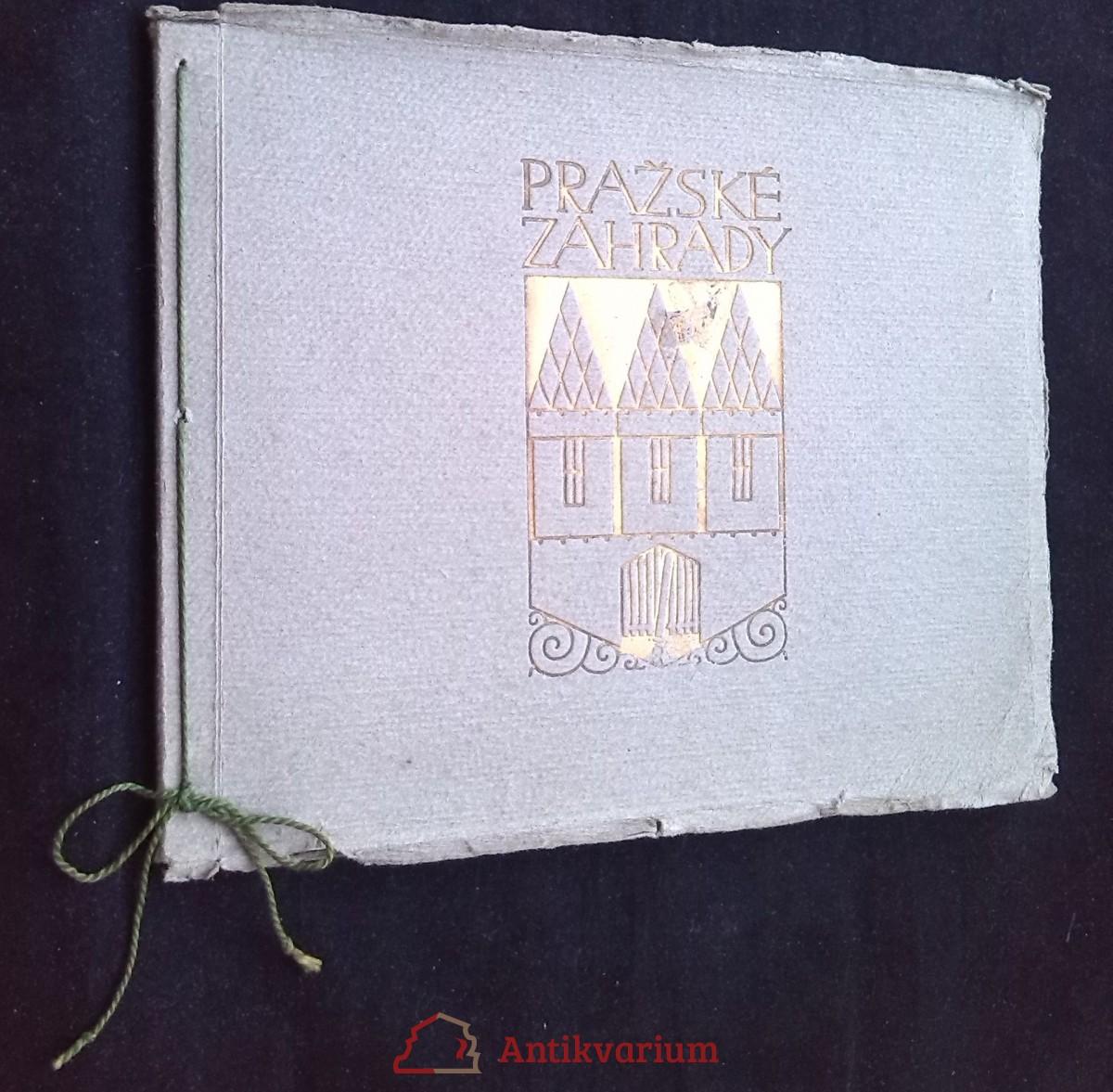 antikvární kniha Pražské zahrady, 1913