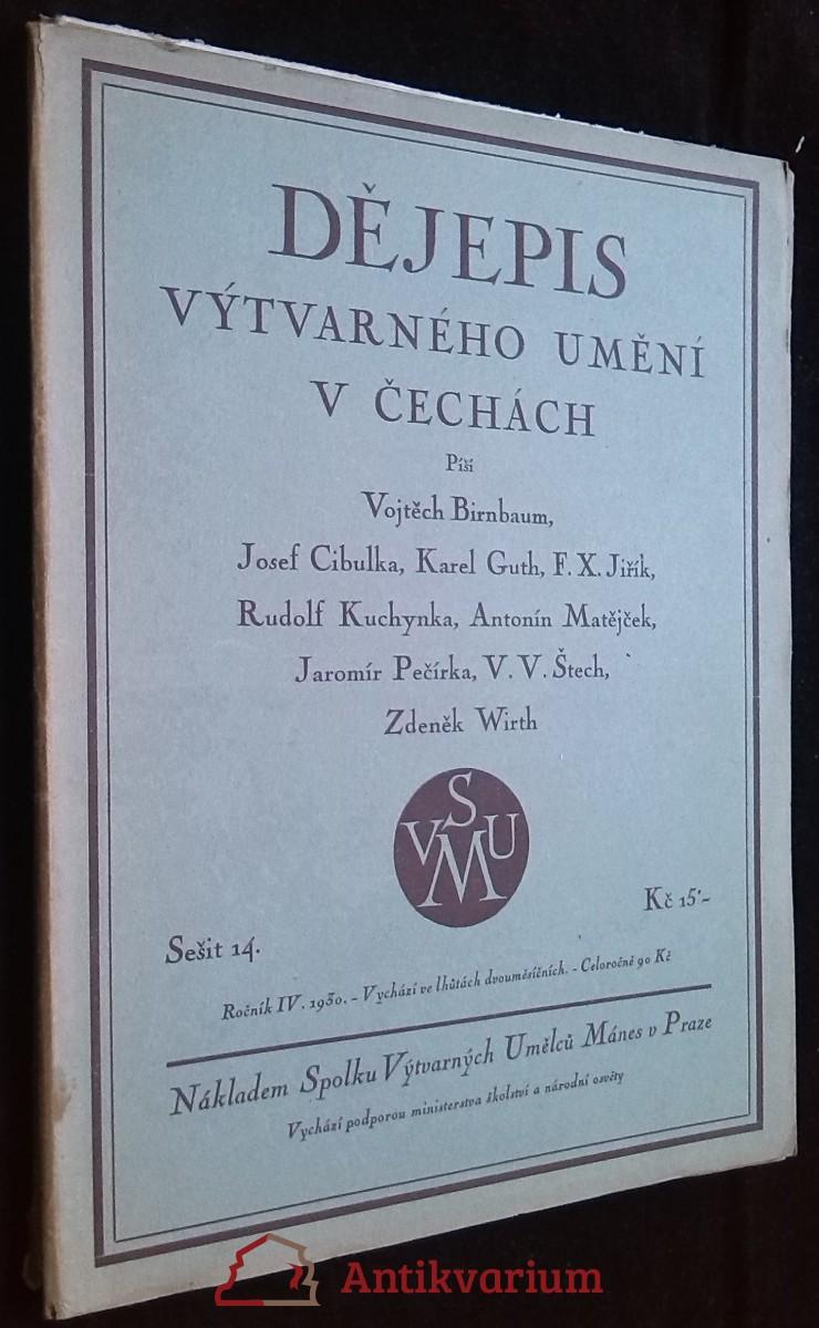 antikvární kniha Dějepis výtvarného umění v Čechách, roč. IV, sešit 14, 1930