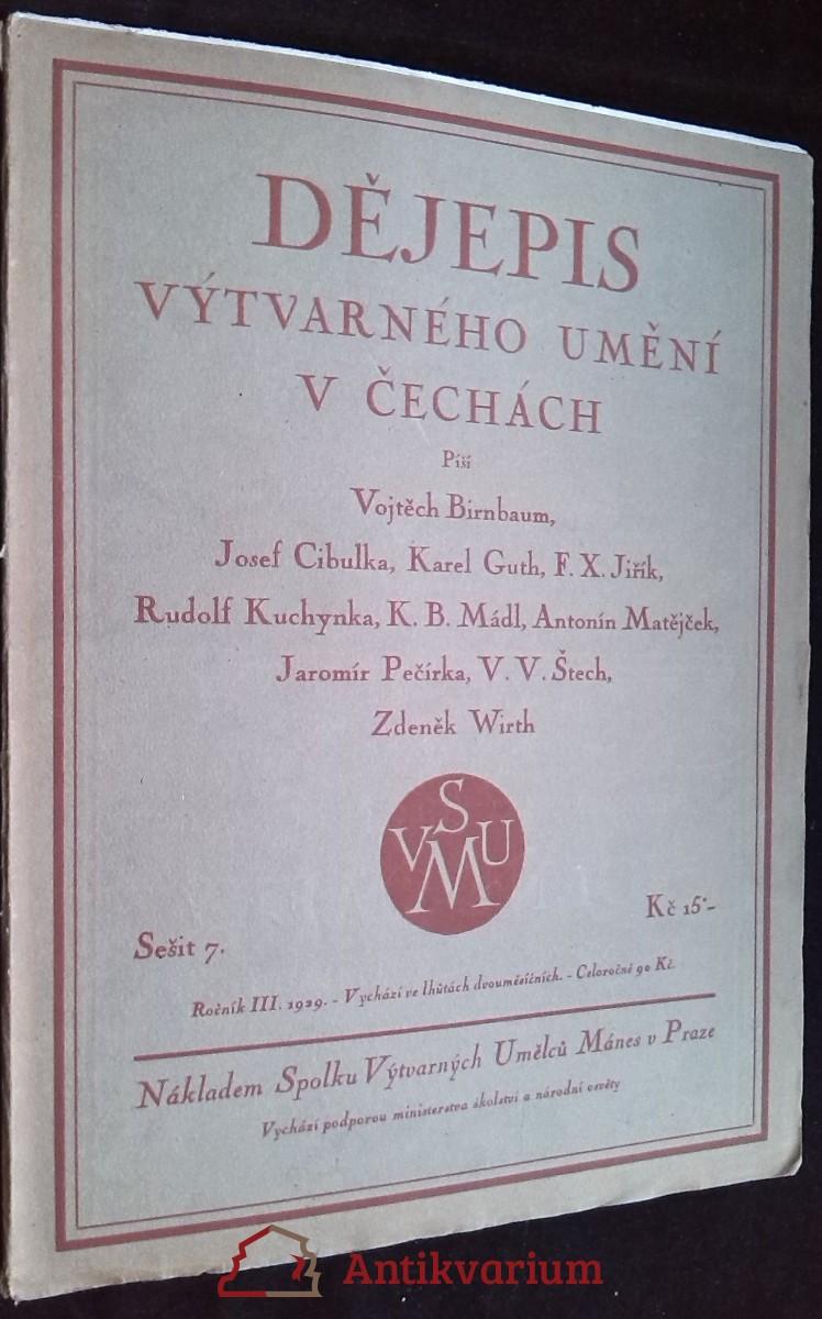 antikvární kniha Dějepis výtvarného umění v Čechách, roč. III, sešit 7, 1929