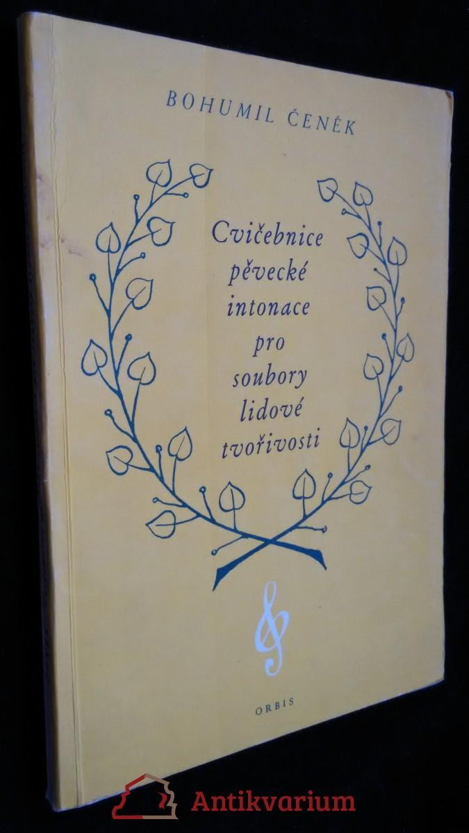 antikvární kniha Cvičebnice pěvecké intonace pro soubory lidové tvořivosti, 1954