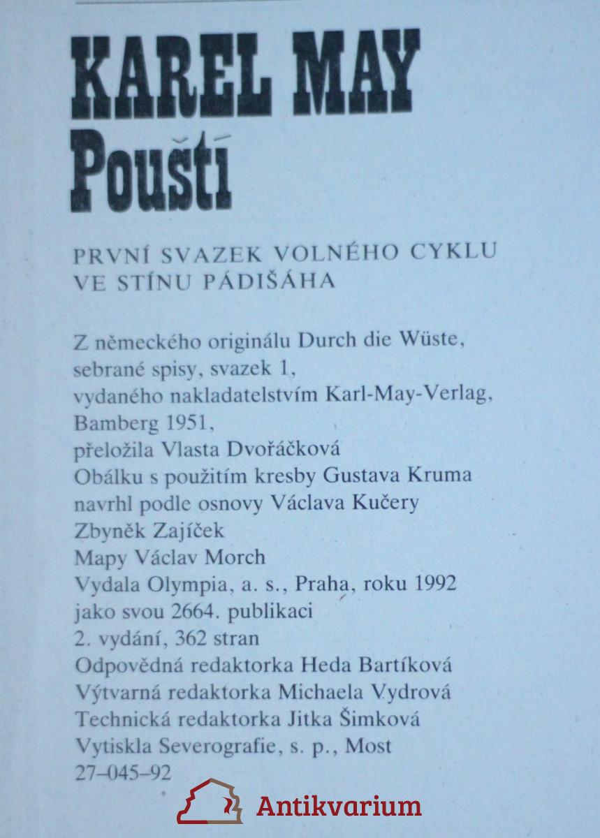 Pousti Volny Cyklus Ve Stinu Padisaha Prvn Antikvariat Praha