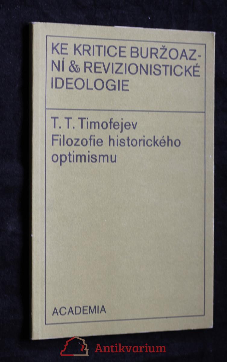 antikvární kniha Filozofie historického optimismu, 1976