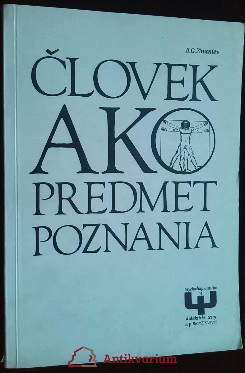 antikvární kniha Človek ako predmet poznania, 1980