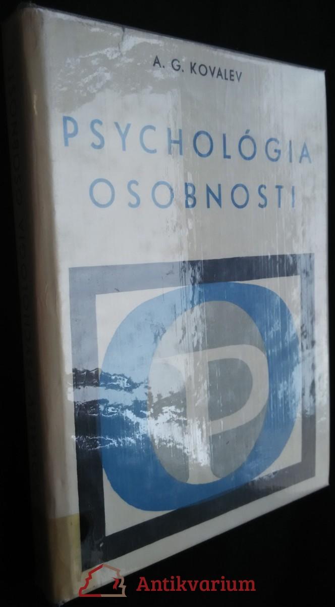 antikvární kniha Psychológia osobnosti, 1967