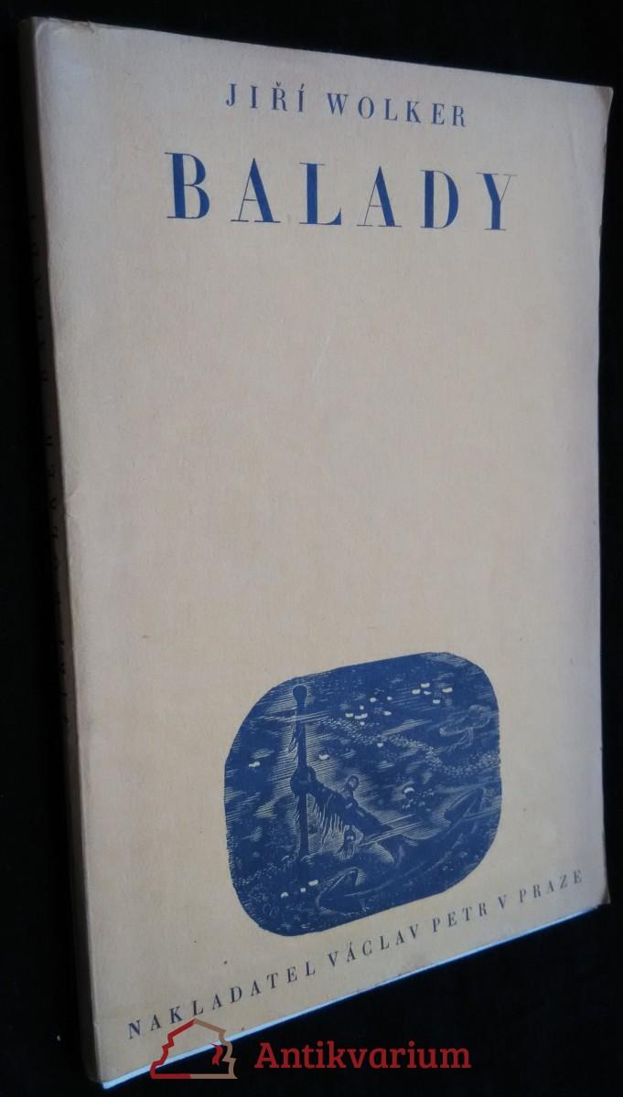 antikvární kniha Balady, 1944