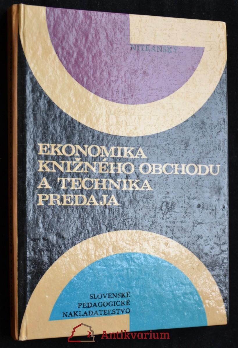 antikvární kniha Ekonomika knižného obchodu a technika predaja, 1977