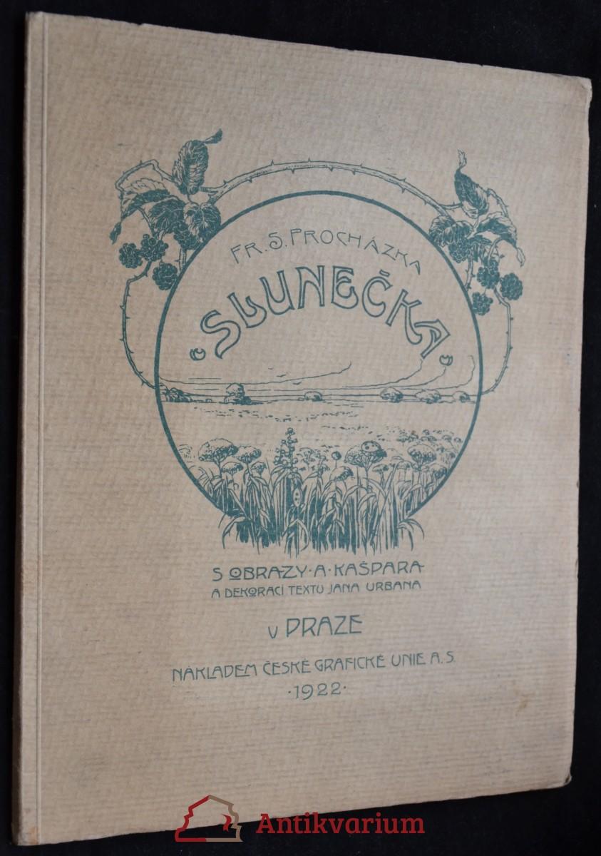 antikvární kniha Slunečka, 1922