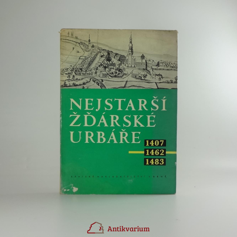 antikvární kniha Nejstarší žďárské urbáře : 1407, 1462, 1483, 1961