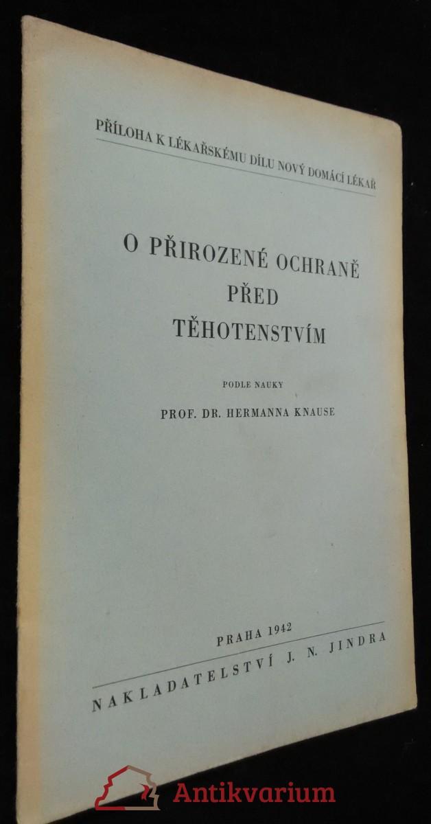 antikvární kniha O přirozené ochraně před těhotenstvím, 1942