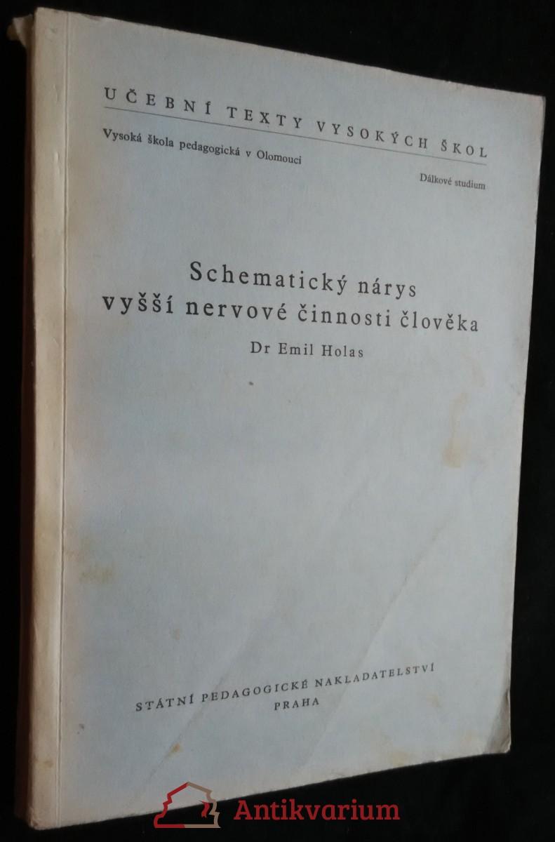 antikvární kniha Schematický nárys vyšší nervové činnosti člověka, 1954