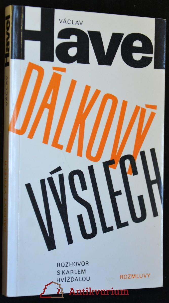 antikvární kniha Dálkový výslech (Rozhovor s Karlem Hvížďalou), 1986