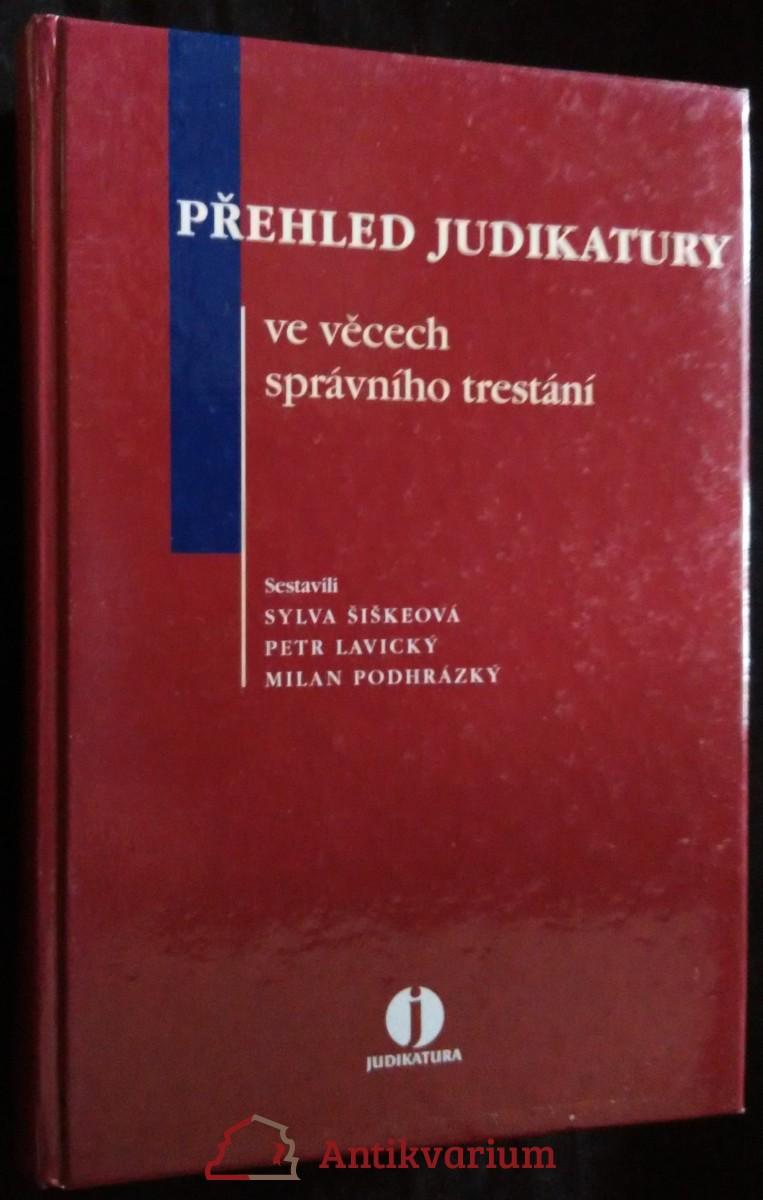 antikvární kniha Přehled judikatury ve věcech správního trestání, 2006