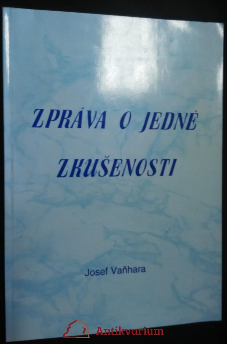 antikvární kniha Zpráva o jedné zkušenosti, 1995