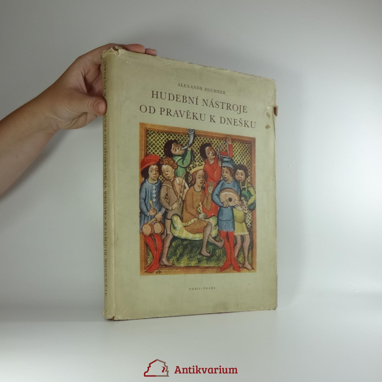 antikvární kniha Hudební nástroje od pravěku k dnešku, 1956
