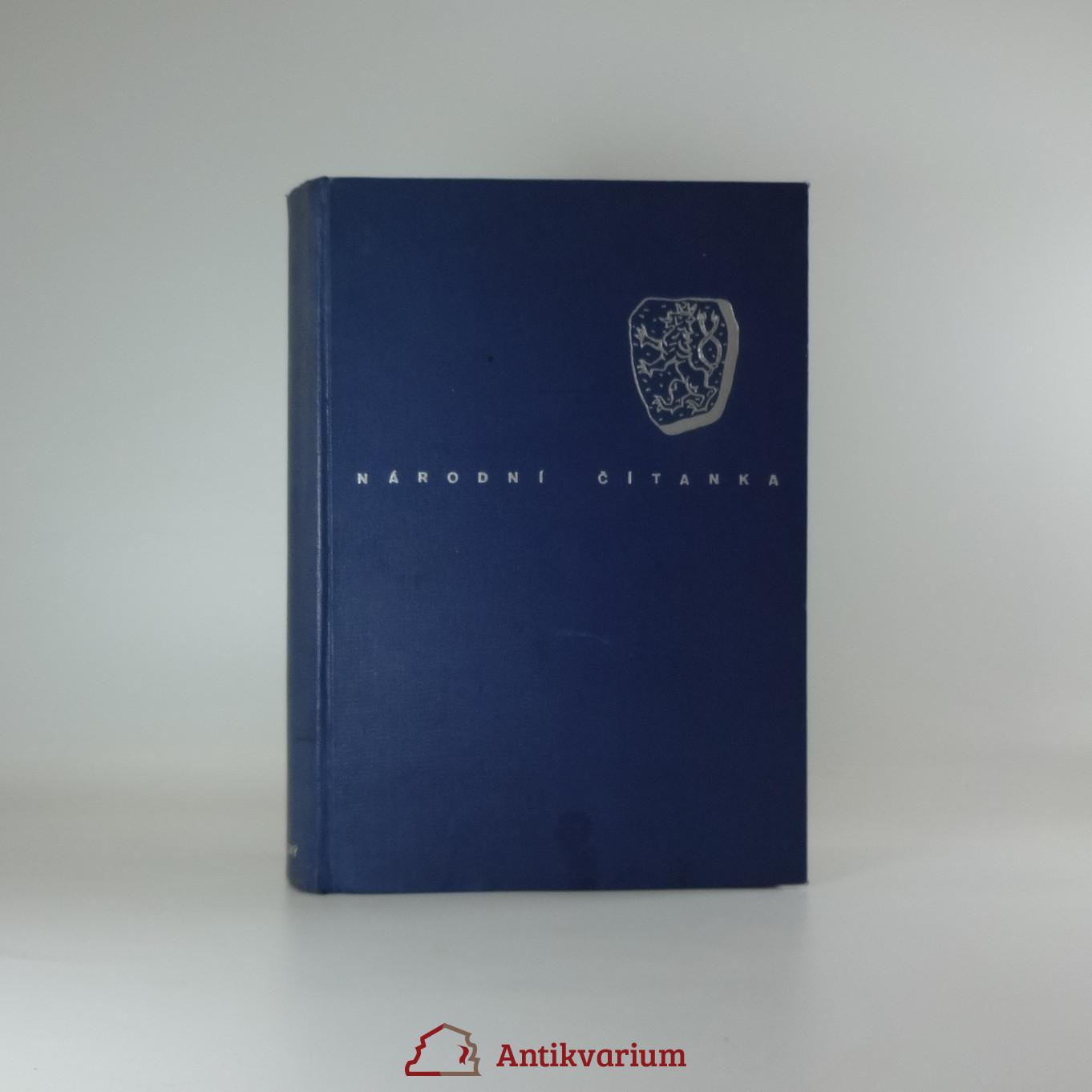 antikvární kniha Národní čítanka, 1939