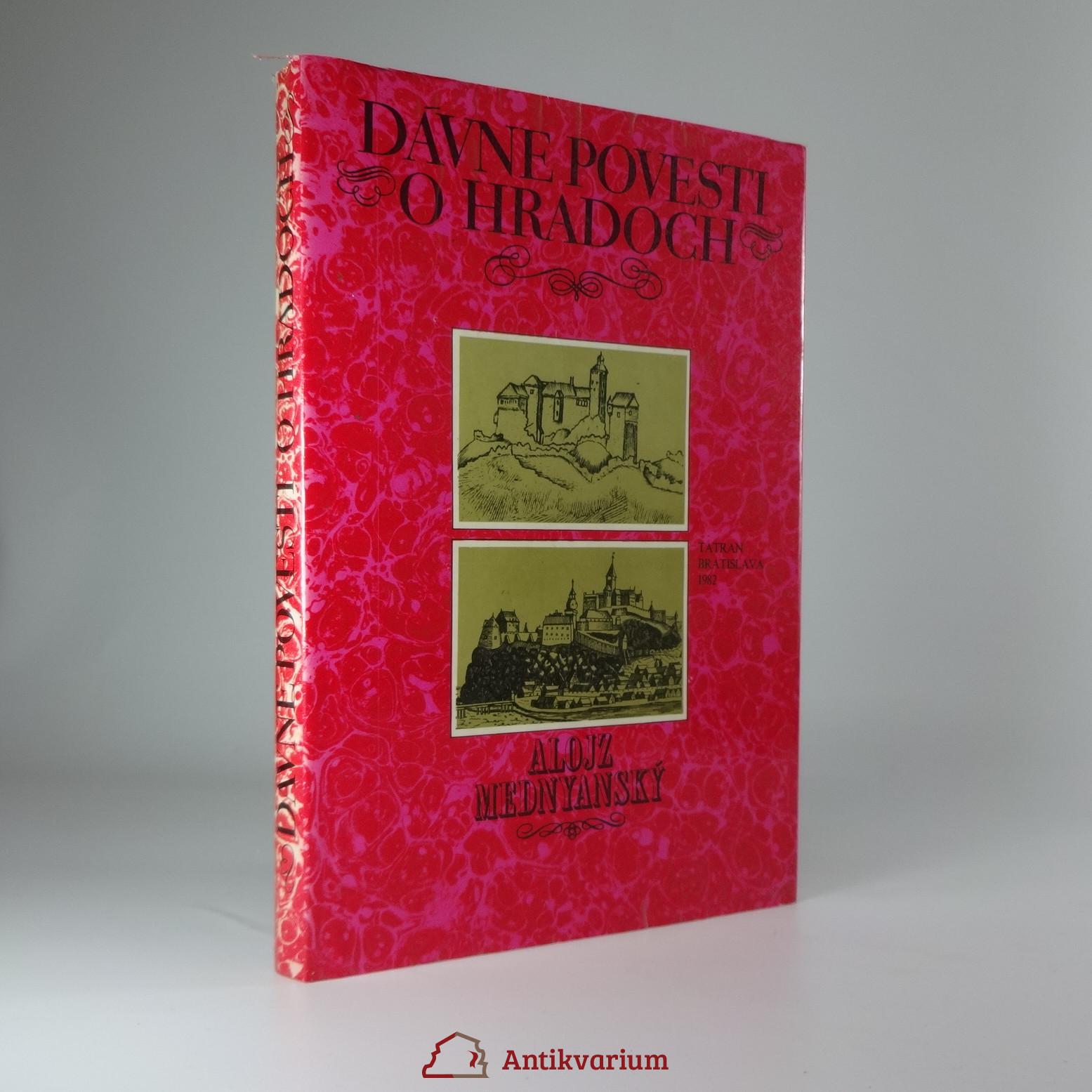 antikvární kniha Dávne povesti o hradoch, 1982