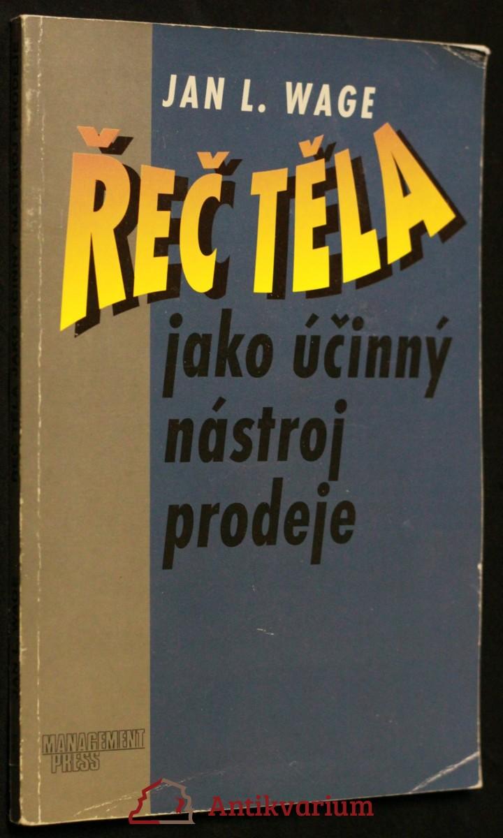 antikvární kniha Řeč těla jako účinný nástroj prodeje, 1997